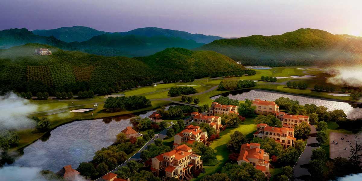 生态农业区,房产区,业态包含休闲旅游业,生态农业,生态林业,服务业